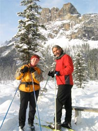 Denise and Mike on the alluvial fan loop at Emerald Lake